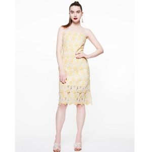 Betsey Johnson LEMON LACE DRESS YELLOW